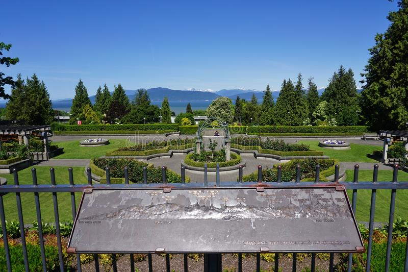 The campus of the University of British Columbia (UBC). VANCOUVER, CA -Located on a beautiful peninsula at Point Grey, the University of British Columbia (UBC) royalty free stock photography