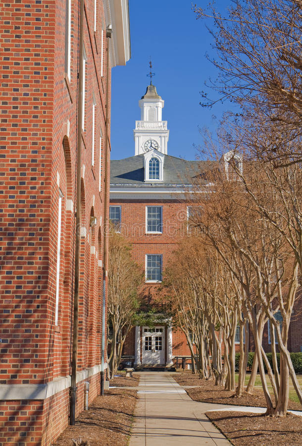 Campus van een historisch zwarte universiteit stock foto's