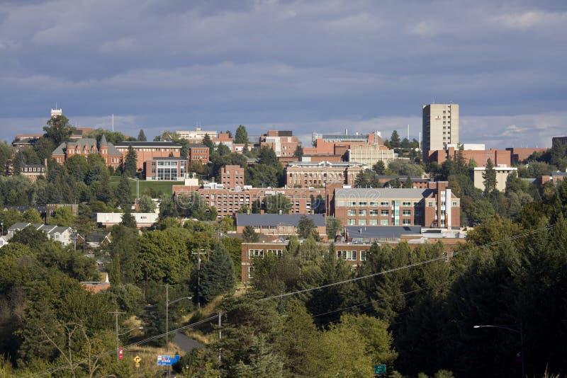 The campus of Washington State University in Pullman, Washington stock images