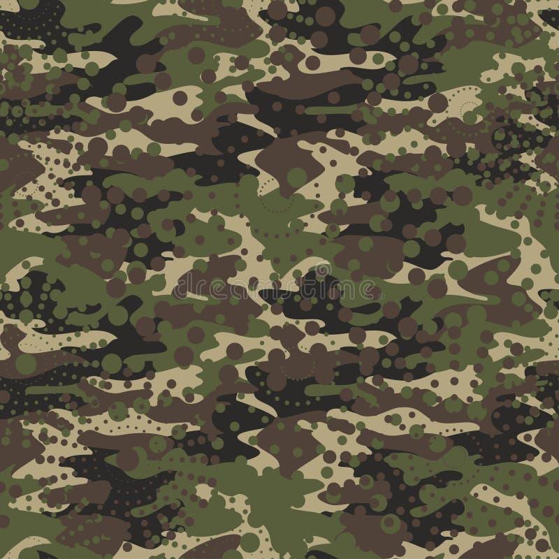 A camuflagem e a reticulação modelam o fundo sem emenda, clothi da máscara imagens de stock