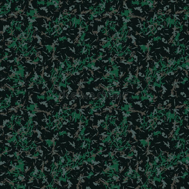 Camuflagem escura verde e marrom da floresta ilustração do vetor