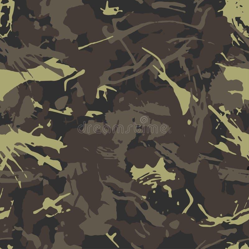 Camuflagem urbana, projeto moderno da forma Protetor militar de Camo Soldado americano Teste padrão de Grunge Verde e cor da másc ilustração stock