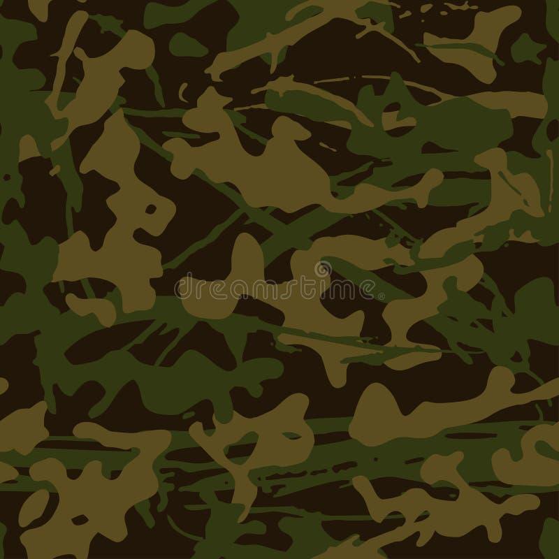 Camuflaje abstracto del grunge, textura inconsútil, modelo militar del camuflaje, ejército o búsqueda de la ropa verde del camo libre illustration