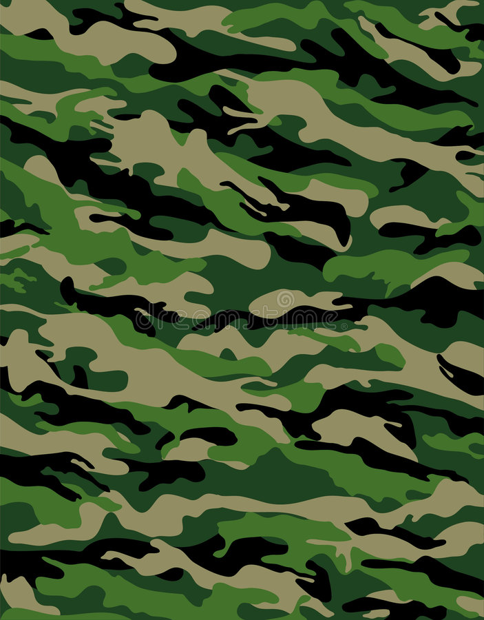 Camuflaje del combate ilustración del vector