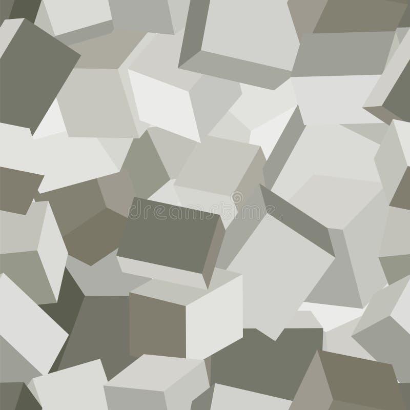Camuflaje geométrico de piedra ilustración del vector