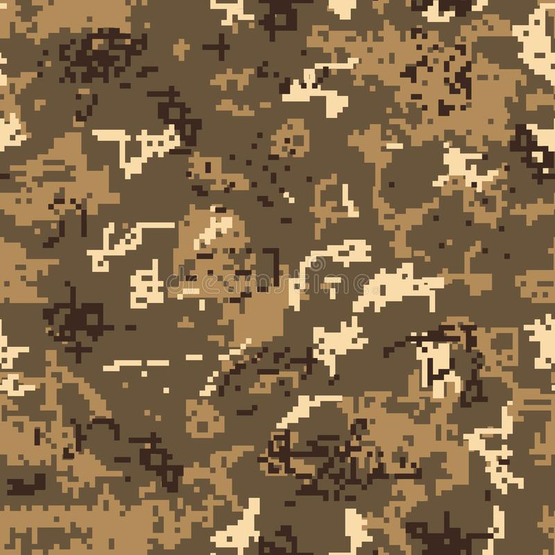 Camuflaje inconsútil del desierto del modelo del pixel libre illustration
