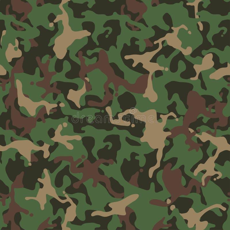 Camufle o teste padrão Uniforme militar verde Textura de Camo ilustração stock