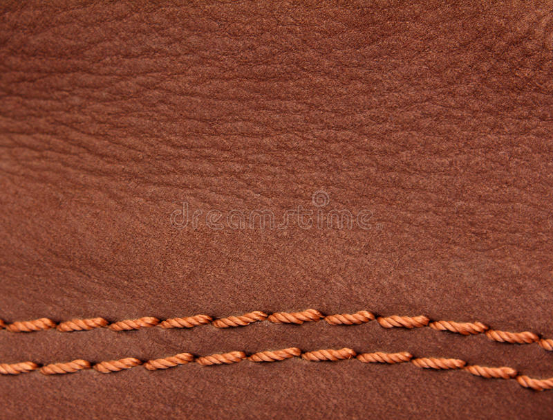 Camurça de couro de Brown imagem de stock royalty free