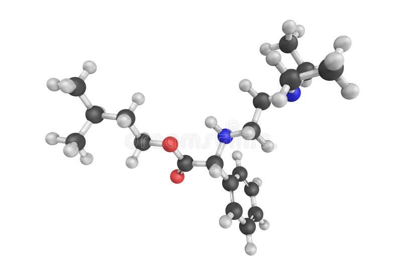 Camylofin, een vlot spierontspannend middel met beide anticholinergic ac stock foto's