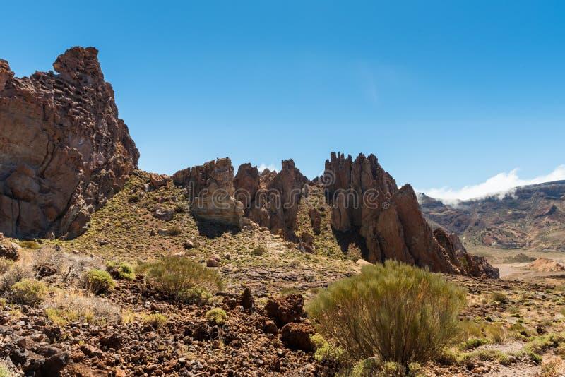 Canário de Tenerife do vulcão de Teide da paisagem da lava imagem de stock royalty free