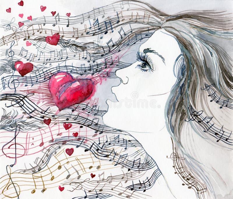 Canção de amor ilustração stock