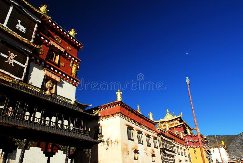 Canção Zan Lin no templo tibetano Shangarila-famoso imagem de stock royalty free