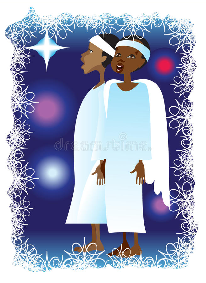 Canções do Natal ilustração royalty free