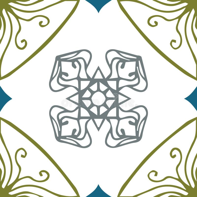 Vector decorative seamless hand drawn pattern. royalty free stock images