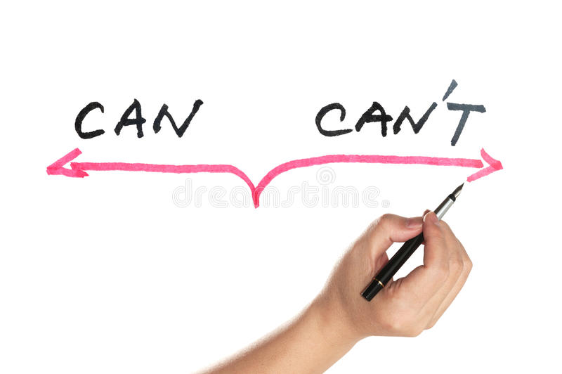 Can or can't concept stock images