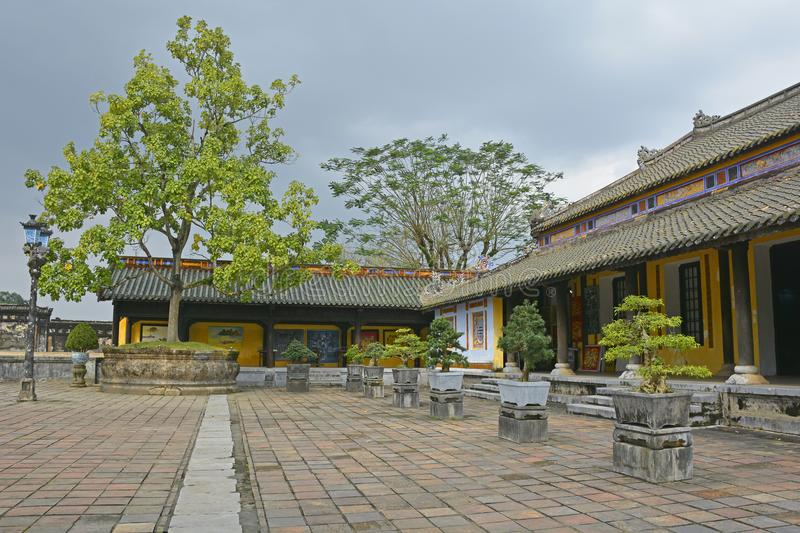 Can Chanh Palace Courtyard royalty free stock images