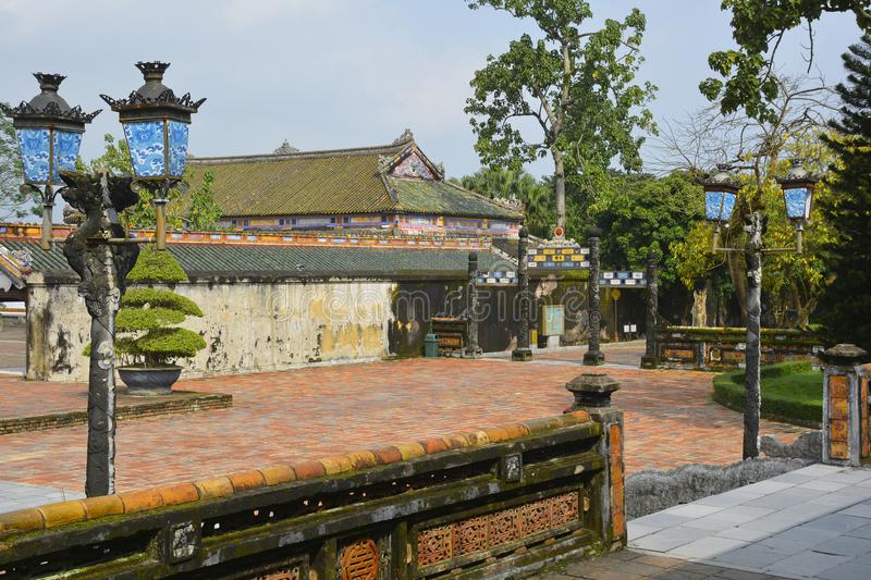 Can Chanh Palace Courtyard stock image