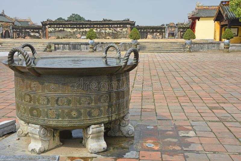 Can Chanh Palace Courtyard royalty free stock image