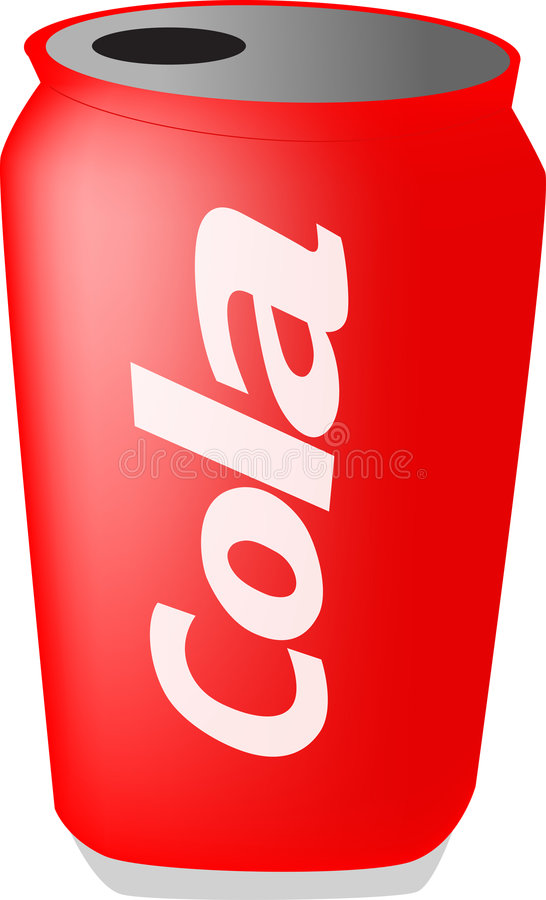 Download Can of cola stock illustration. Image of cylinder, soft - 1383155
