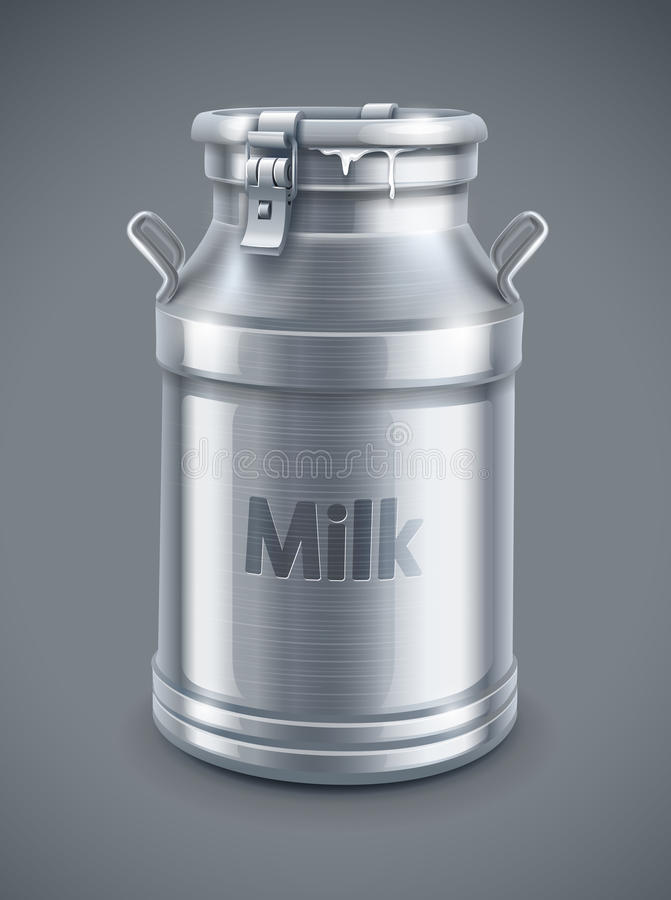 Can Container For Milk Vector Royalty Free Stock Photo