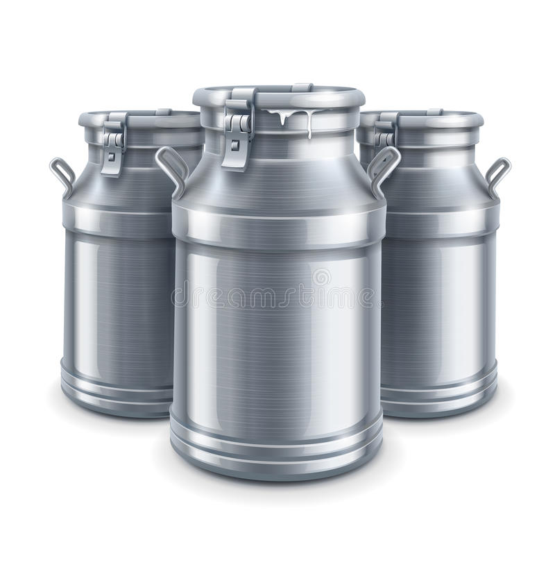 Download Can Containers For Milk  Vector Stock Vector - Image: 32578806