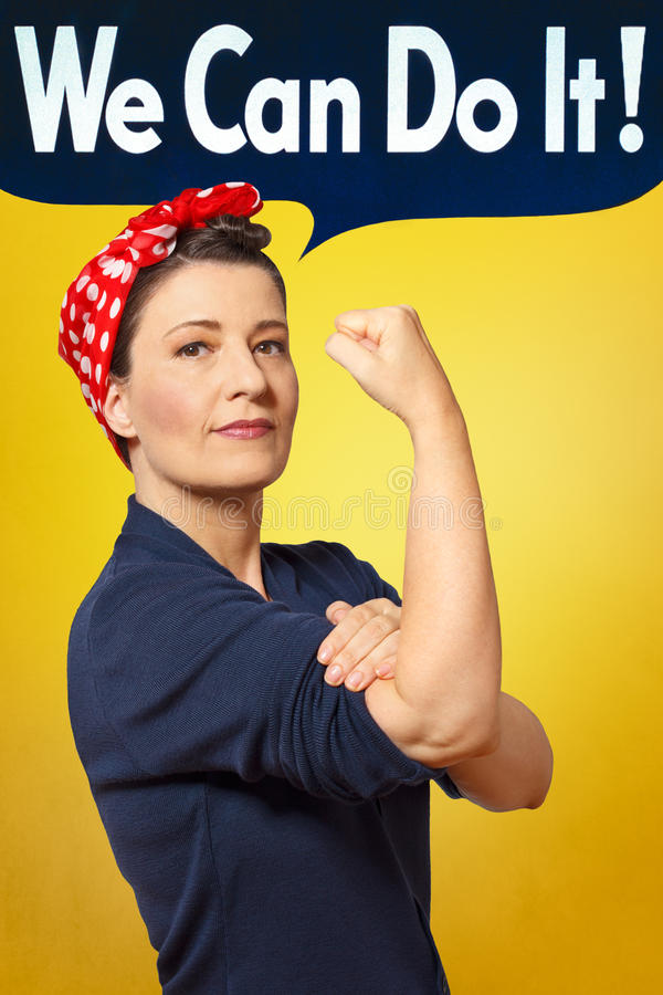 We can do it photo rosie riveter royalty free stock images