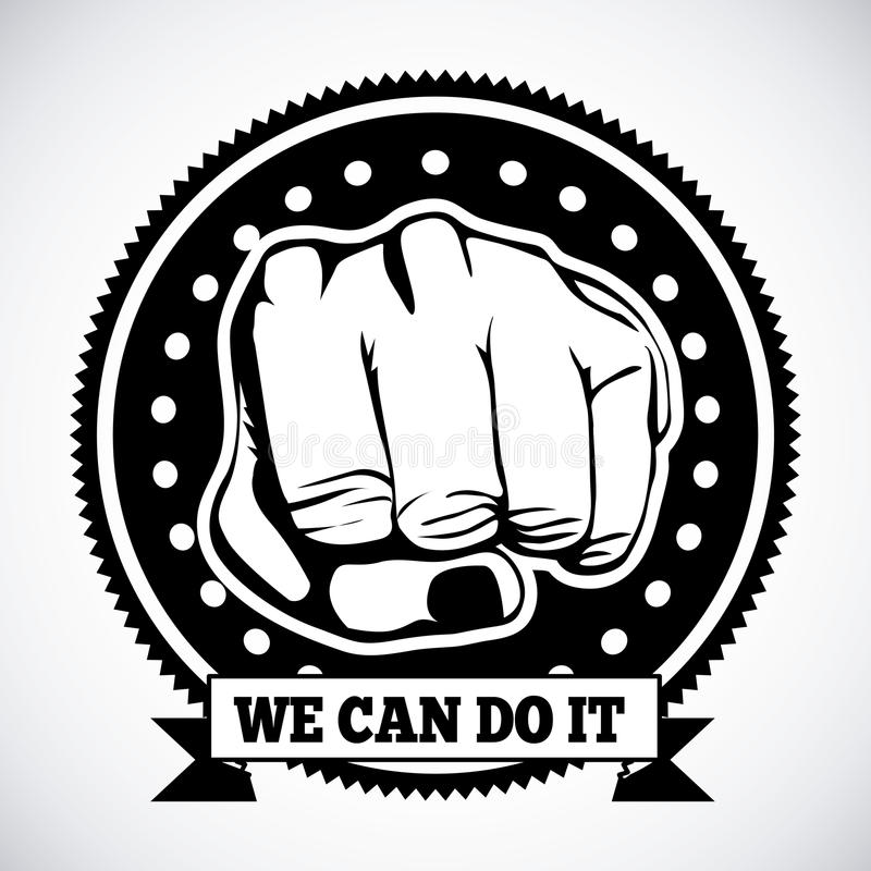 Download We can do it stock vector. Illustration of message, education - 31690966
