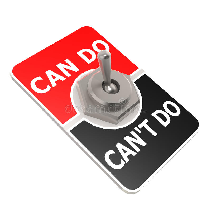 Can do toggle switch. Image with hi-res rendered artwork that could be used for any graphic design vector illustration