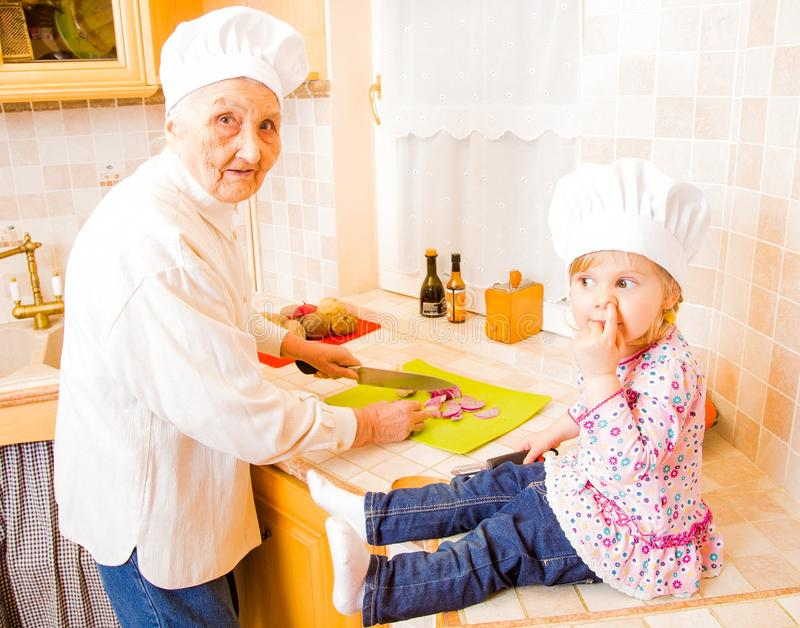 Can I help you, grandma royalty free stock images