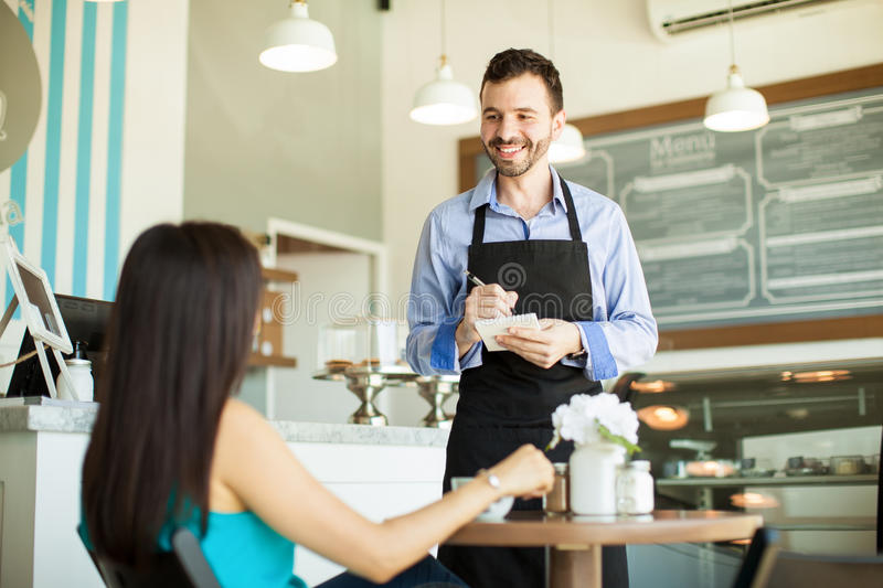 Can I take your order? stock photography