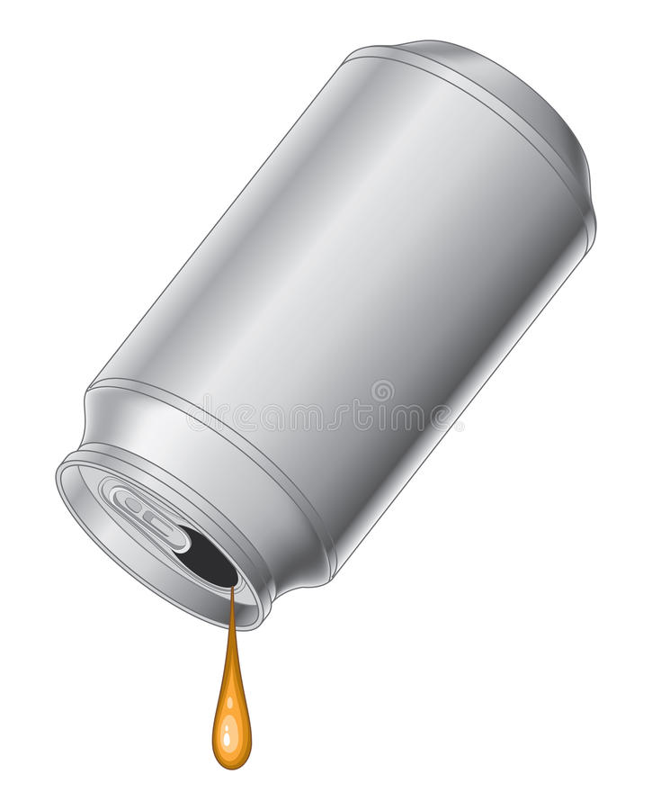 Can With Last Drop stock illustration