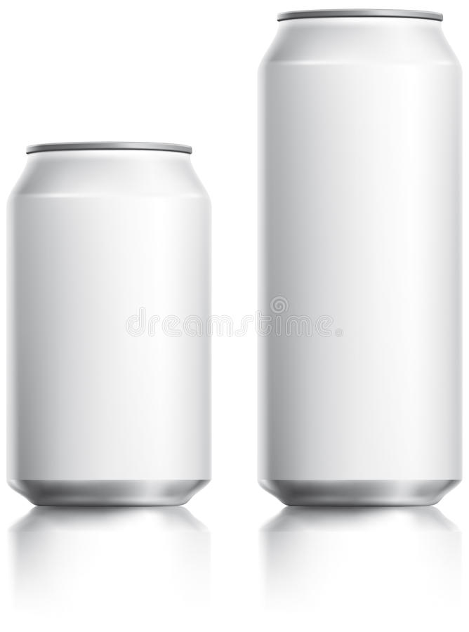 White Drinks Can Visual stock photos