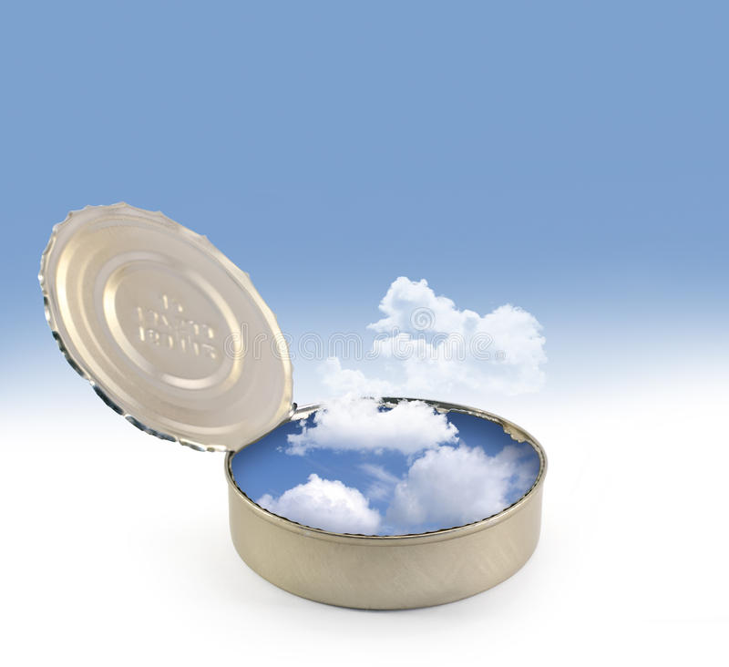 Download Can Opened With Sky And Clouds Stock Image - Image: 25124069