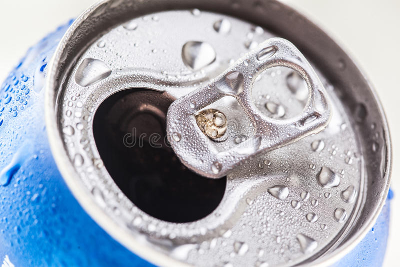 Can of Pepsi cola on a bed of ice. Kyiv, Ukraine - MARCH 19, 2016: Can of Pepsi cola on a bed of ice and white background, Pepsi is a carbonated soft drink royalty free stock photography