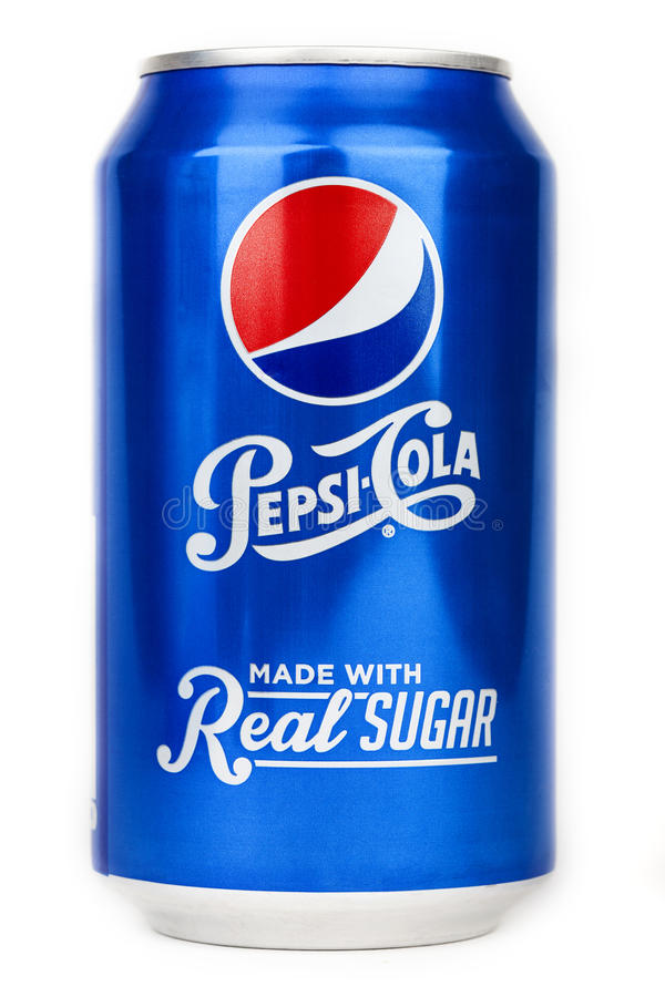Can of Pepsi Cola royalty free stock photo