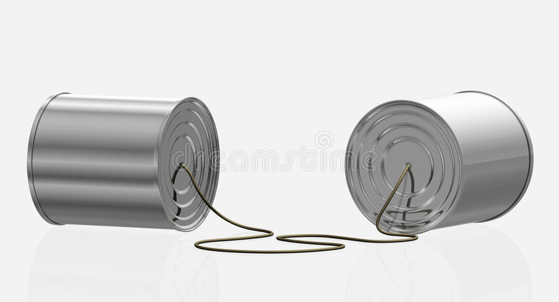 Can Phone - isolated stock illustration