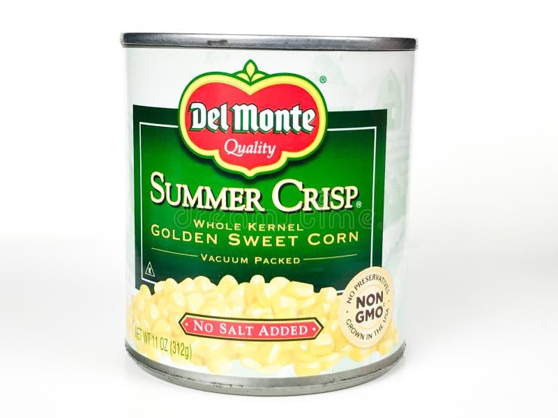 Can of Summer Crisp Sweet Corn stock photo