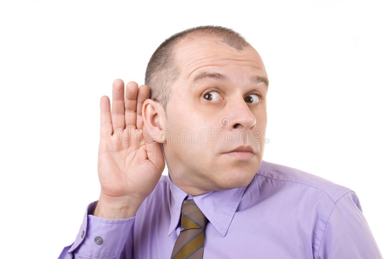 Can T Hear! Stock Photography