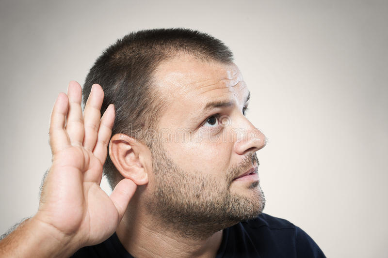 Download Can't hear you! stock image. Image of receive, attend - 28141929