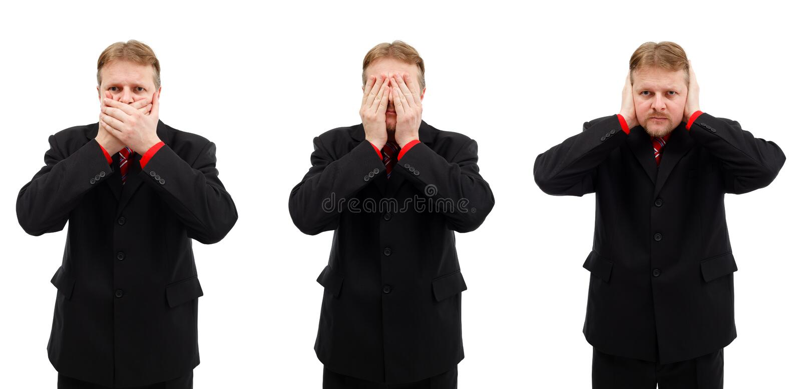 Download Can't Talk, Can't See And Can't Hear Stock Photo - Image: 17939230