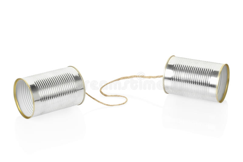 Download Can telephone stock photo. Image of link, cord, communicating - 25280272