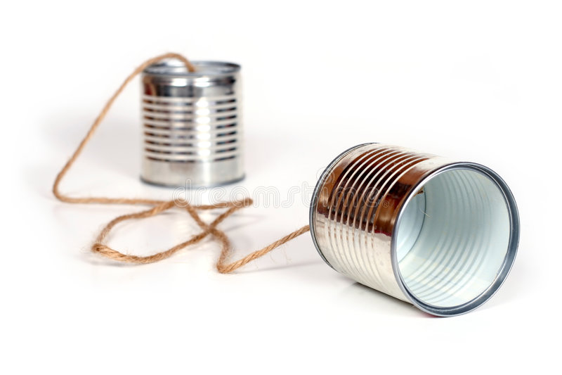 Can telephones. Ancient communication - cans connected by string