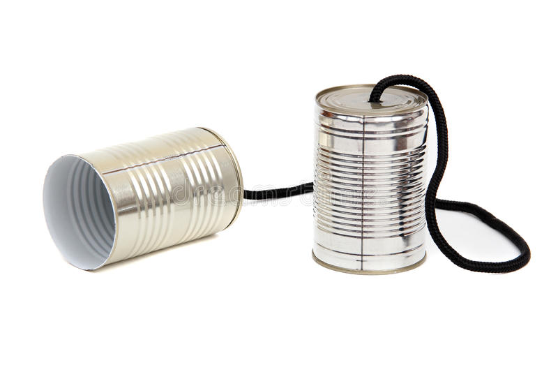 Can telephones royalty free stock images