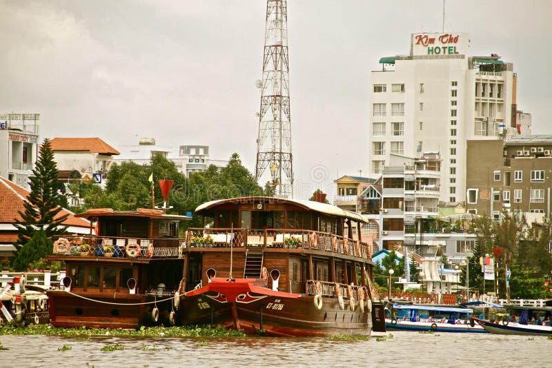 Can Tho en el delta del Mekong, Vietnam fotos de archivo