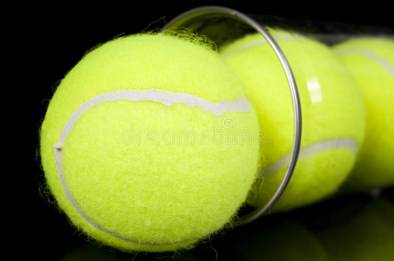 Download Can Of Three New Tennis Balls Stock Photo - Image of tube, transparent: 23876448