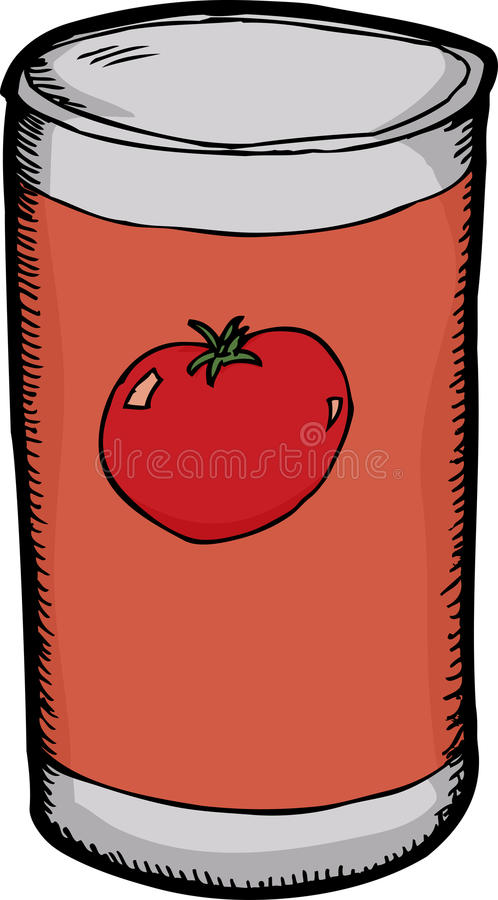 Download Can of Tomato Paste stock vector. Illustration of drawn - 26642216