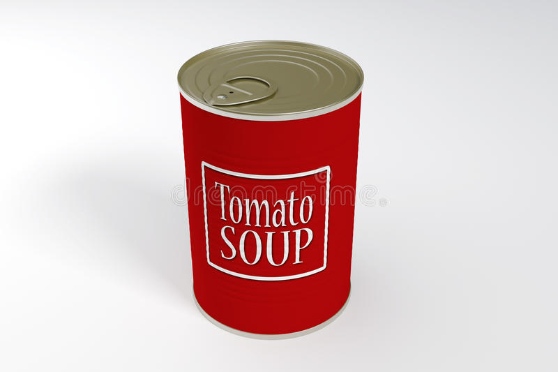 Download A can of tomato soup stock illustration. Image of food - 12479104