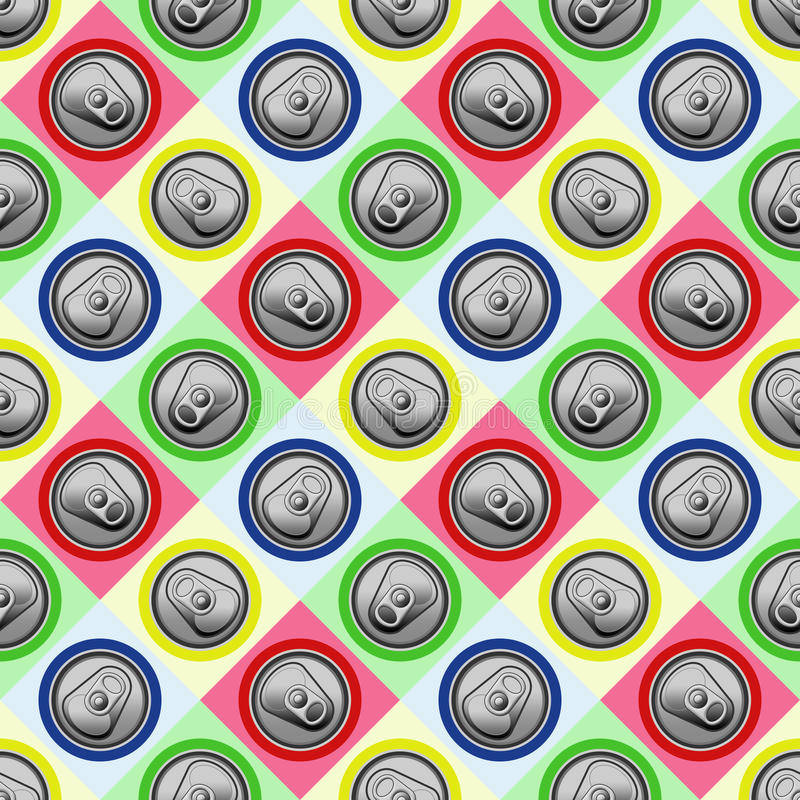 Can tops background. Nice colorful can tops background vector illustration