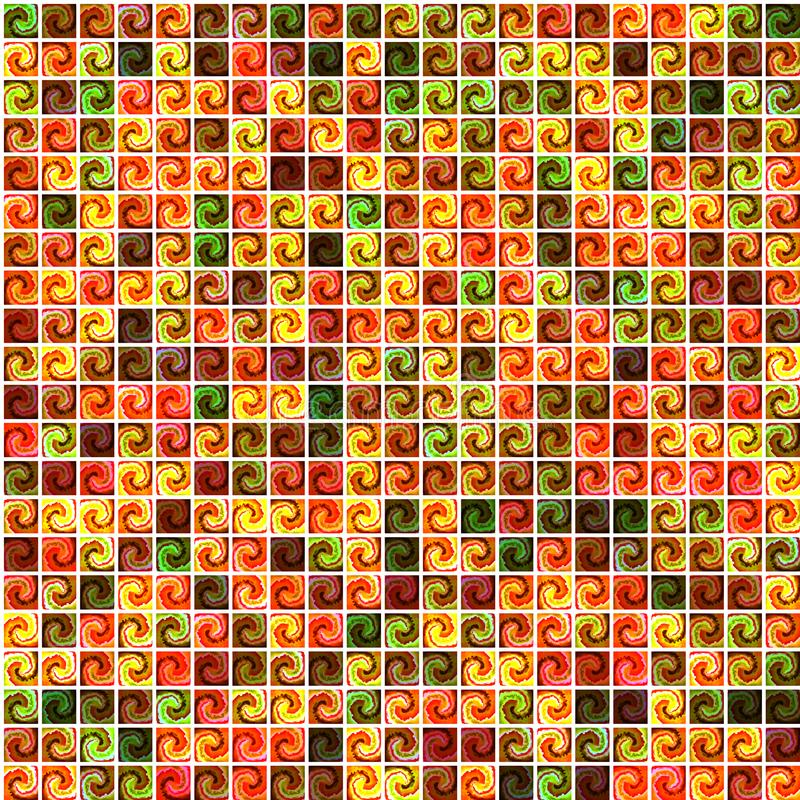 Geometric circles and squares seamless pattern design. Abstract gradient background. vector illustration