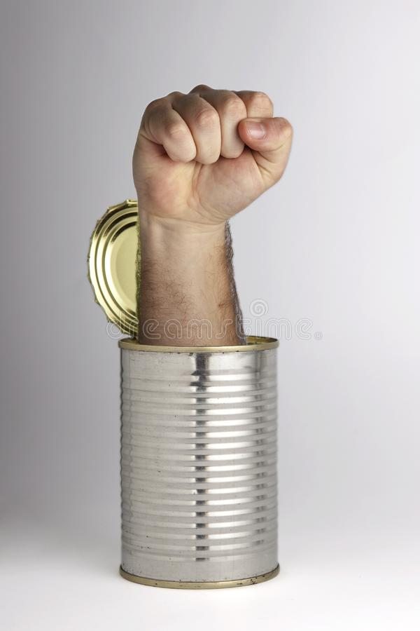Download Can of whoopass stock image. Image of fist, isolated - 14032451